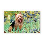 Irises - Aussie Terrier 20x12 Wall Decal