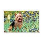 Irises - Aussie Terrier 20x12 Wall Decal