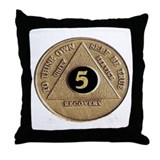 5 YEAR COIN Throw Pillow
