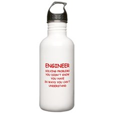 funny science joke Sports Water Bottle