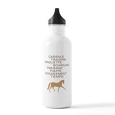 dressage speak Water Bottle