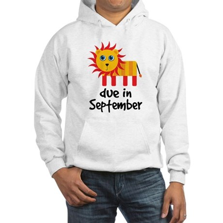 Lion Design September Due Date Hooded Sweatshirt