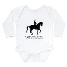 dressage silhouette Long Sleeve Infant Bodysuit