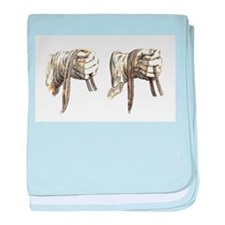 dressage hands baby blanket