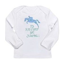 rather-jumping blue Long Sleeve Infant T-Shirt