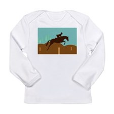 Funny Show jumping Long Sleeve Infant T-Shirt