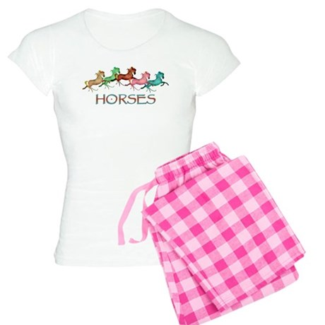 many leaping horses Women's Light Pajamas