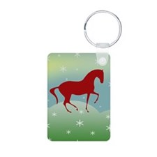 Happy Holidays Dressage Keychains