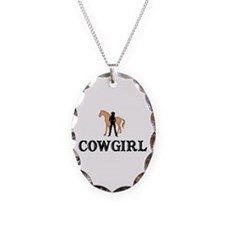 cowgirl & horse Necklace