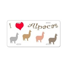Cute Llama lover Aluminum License Plate