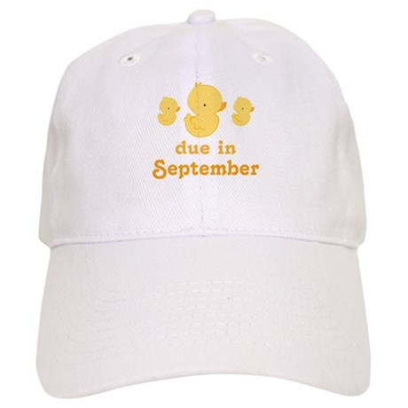 Cute Duck September Due Date Cap