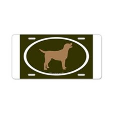 Cute Brown labrador retriever Aluminum License Plate