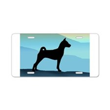 Blue Mountains Basenji Aluminum License Plate