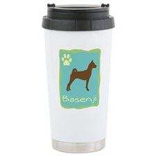 basenji Ceramic Travel Mug