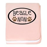 Beagle Mom Oval baby blanket