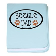 Beagle Dad Oval baby blanket