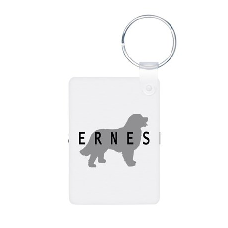 Bernese Dog Aluminum Photo Keychain