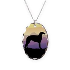 Purple Mountain Borzoi Necklace