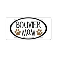 Bouvier Mom Oval Aluminum License Plate