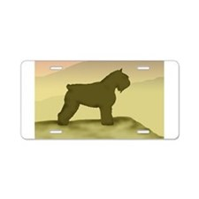 Hazy Sunrise Bouvier Aluminum License Plate