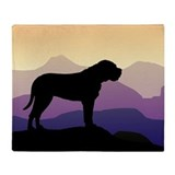 Purple Mountains Bullmastiff Throw Blanket