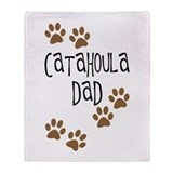 Catahoula Dad Throw Blanket