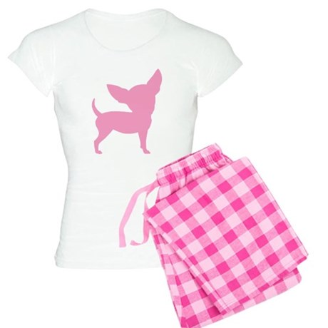 Pink Funny Cute Chihuahua Pajamas By Woofdogdesign