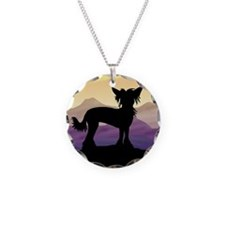 Chinese Crested Purple Mt. Necklace