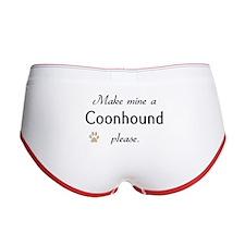Make Mine Coonhound Women's Boy Brief