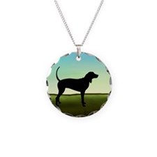 Coonhound In A Field Necklace