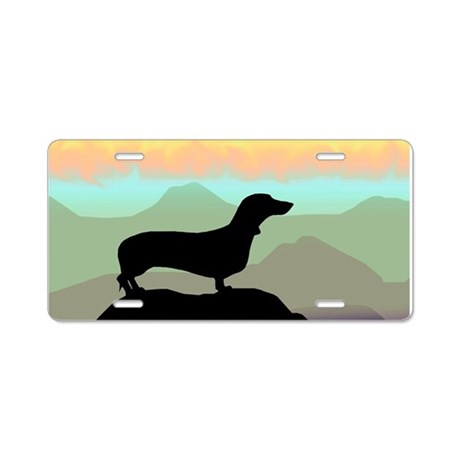 Desert Dawg Doxie Aluminum License Plate