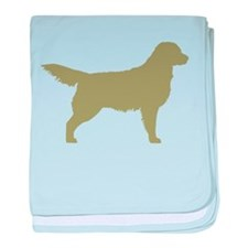 Sage Golden Retriever baby blanket