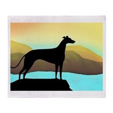 Cute Greyhound lover Throw Blanket