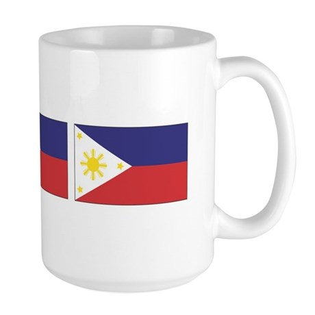 3 Philippine Flags Large Mug