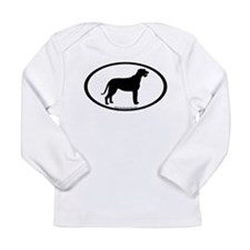 Irish Wolfhound Oval Long Sleeve Infant T-Shirt