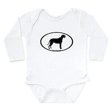 Irish Wolfhound Oval Long Sleeve Infant Bodysuit