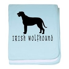 Irish Wolfhound w/ Text #2 baby blanket
