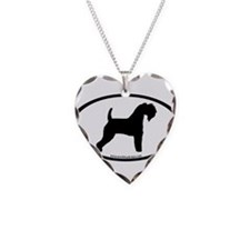 Kerry Blue Terrier Oval Necklace