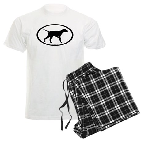 Pointer Dog Oval Men's Light Pajamas