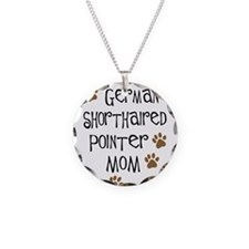 German Shorthaired Pointer Mo Necklace Circle Char