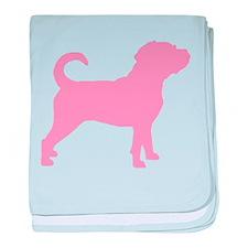 Puggle Dog baby blanket