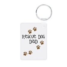 Rescue Dog Dad Keychains