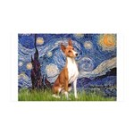 Starry Night & Basenji 35x21 Wall Decal