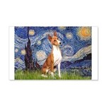 Starry Night & Basenji 20x12 Wall Decal