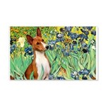 Basenji in Irises 20x12 Wall Decal
