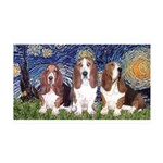 Starry Basset 35x21 Wall Decal