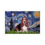 Starry / Basset Hound 35x21 Wall Decal