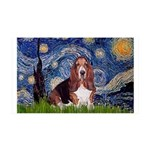 Starry / Basset Hound 35x21 Wall Decal