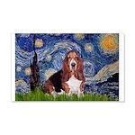 Starry / Basset Hound 20x12 Wall Decal