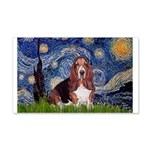 Starry / Basset Hound 20x12 Wall Decal